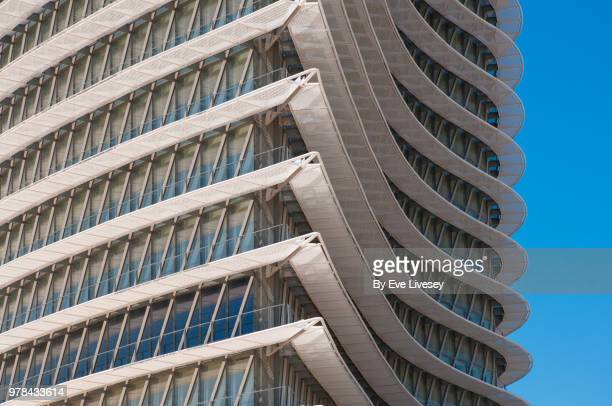 partial view of the water tower, zaragoza, aragon, spain, europe - zaragoza city stock photos and pictures