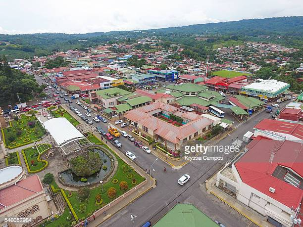 Partial view of town of Naranjo - Costa Rica