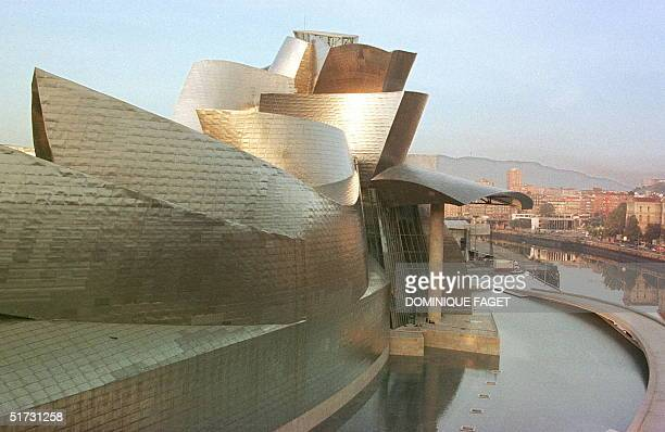 Partial view taken 15 October of the new Guggenheim museum at Bilbao built by American architect Frank O. Gehry next to the Bilbao river. Spanish...