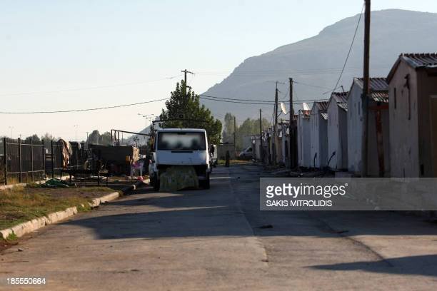 A partial view taken on October 21 2013 shows a Roma settlement in Farsala central Greece where a fouryearold girl reportedly named Maria was found...