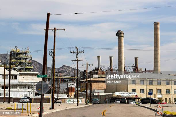 A partially collapsed chimney at Seares Valley Minerals in Trona on July 7 2019 The company that has long dictated the economic livelihood of Trona...