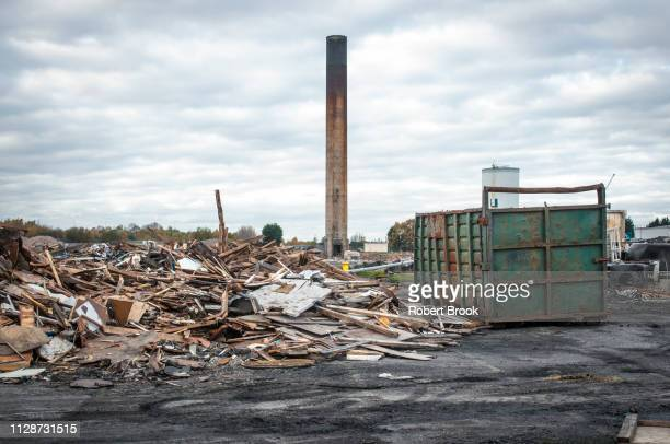 partially demolished former chemical factory, uk - 工場地帯 ストックフォトと画像