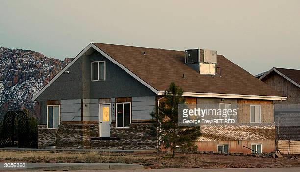 A partially finished home is shown here in Colorado City Arizona the home of the Fundamentalist Church of Jesus Christ of Latter Day Saints on March...