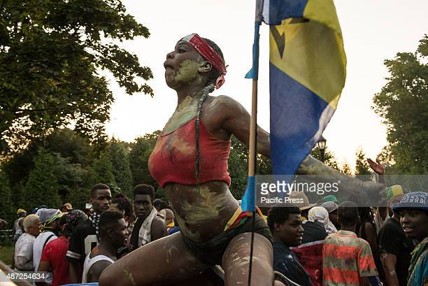 A participant dances during the West Indian Day Parade Thousands of revelers took to the streets of Crown Heights beginning around 300 AM for a...