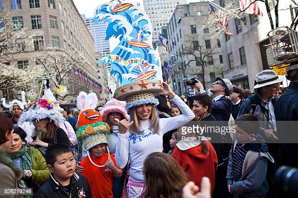 Participant dress for the 2012 Easter Parade during the annual New York City Easter parade on Manhattan's Fifth Avenue on Sunday April 8 2012