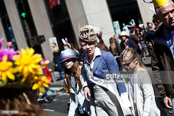 Participant dress for the 2012 Easter Parade during the annual New York City Easter parade on Manhattan's Fifth Avenue on Sunday, April 8, 2012.