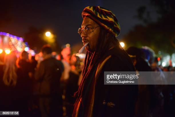 A participant dressed as Bob Marley at the West Hollywood Halloween Carnaval on October 31 2017 in West Hollywood California