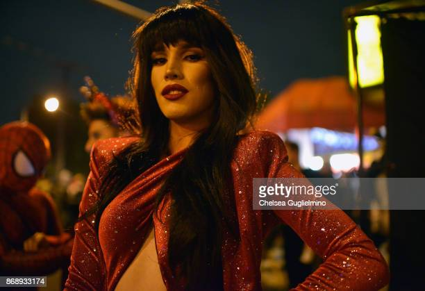 A participant dressed as Selena attends the West Hollywood Halloween Carnaval on October 31 2017 in West Hollywood California
