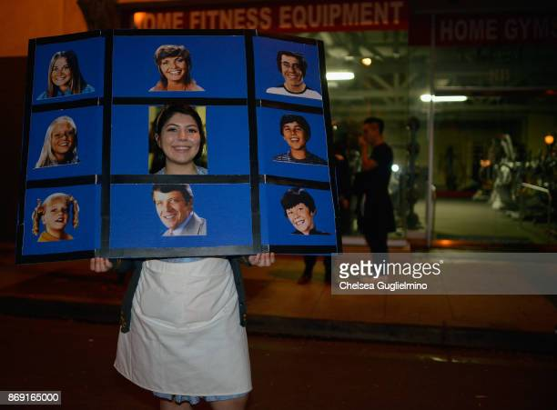 A participant dressed as The Brady Bunch attends the West Hollywood Halloween Carnaval on October 31 2017 in West Hollywood California
