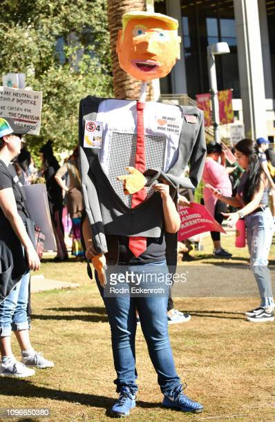 Participant dresses as Donald Trump at the Women's March California 2019 Los Angeles on January 19 2019 in Los Angeles California