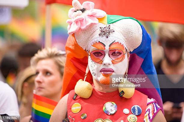 A participant during a protest against homophobia in Russia on August 31 2013 in Berlin Germany The Russian government under President Putin has...