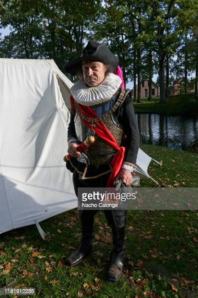 A participant from Italy poses in his period costume on October 18 2019 in Groenlo Netherlands For three days the streets of the village of Groenlo...