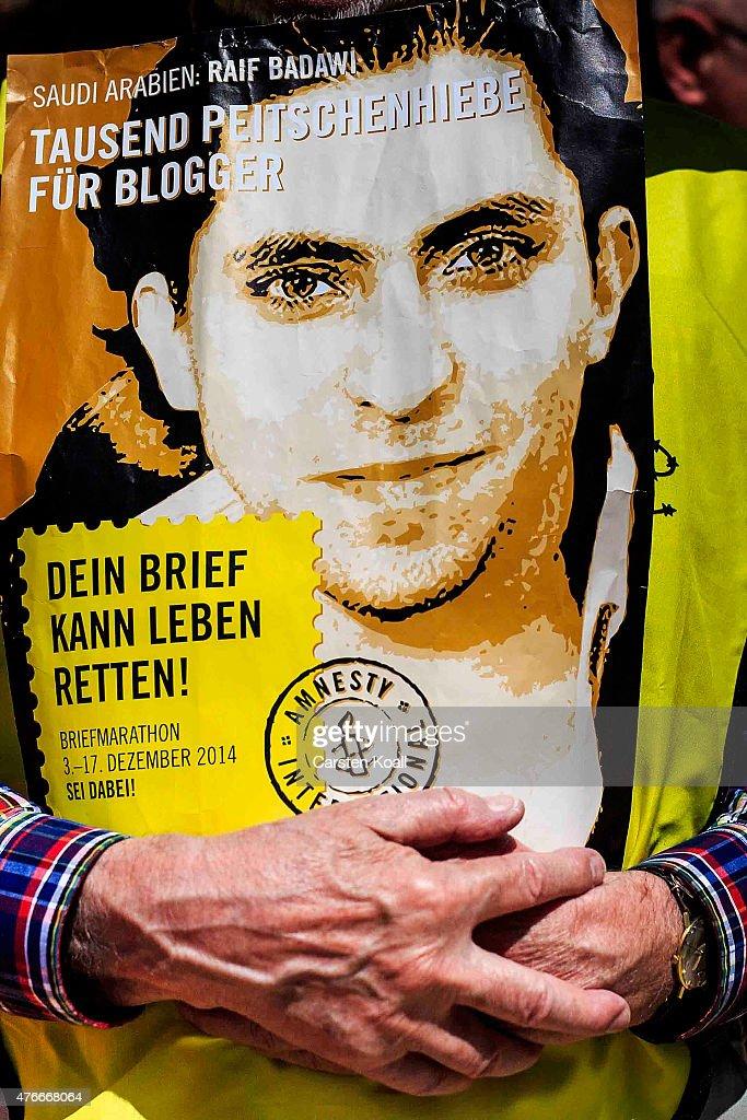 Activists Protest Saudi Court Verdict In Badawi Case : News Photo