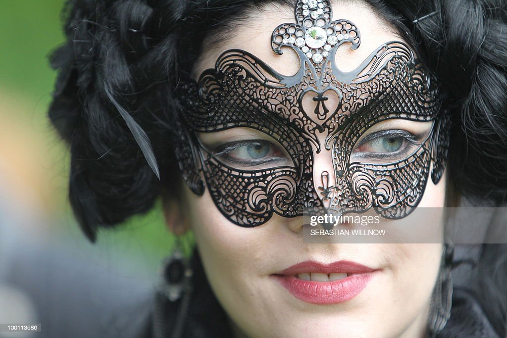A participant in an annual Wave-Gothic festival poses on May 21, 2010 in Leipzig, eastern Germany, where more than 20 000 people are expected to attend the festival attracting the friends of gothic romanticism. The festival offers a very special spectacle with a range of concerts, historical markets, theatre and cinema, gothic scene performances, exhibitions, readings and parties.