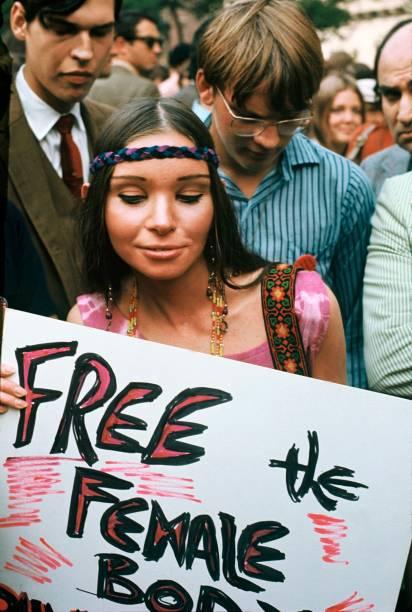 Feminist Demonstration In New York In 1970