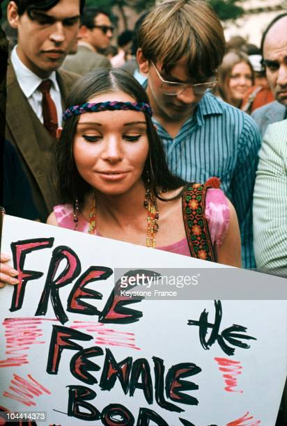 A participant in the American feminist demonstration in New York on August 26 1970