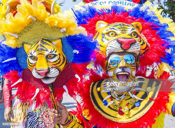 Participant in the Barranquilla Carnival in Barranquilla Colombia Barranquilla Carnival is one of the biggest carnival in the world