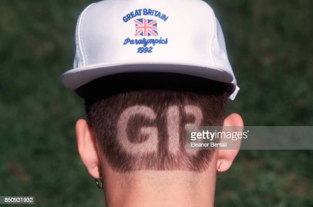 A participant in the Paralympics has 'GB' shaved into the back of his head | Location Madrid Spain