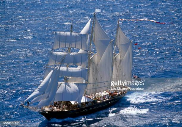 A participant in the Tall Ships Race off the coast of Fremantle Australia circa 1987