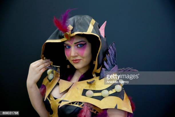 Participant is seen during the IgroMir 2017 exhibition and Comic Con Russia 2017 festival held at the Crocus Expo international exhibition center in...