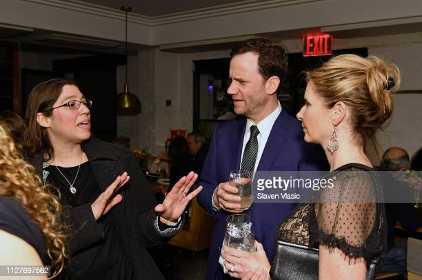 Participant Laura Estrada Sandoval lawyer Justin Brown and guest attend after party for NY premiere of HBO's The Case Against Adnan Syed at Loring...