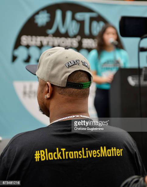 A participant seen at the #MeToo Survivors March Rally on November 12 2017 in Hollywood California