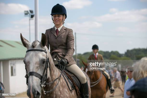 A participant seen riding a horse during the Great Yorkshire Show 2018 on day one The Great Yorkshire Show is the biggest 3 days agricultural event...