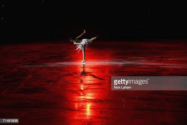 A participant skates in the ice gala during the Gay Games VII at the McFetridge Sports Center on July 20 2006 in Chicago Illinois
