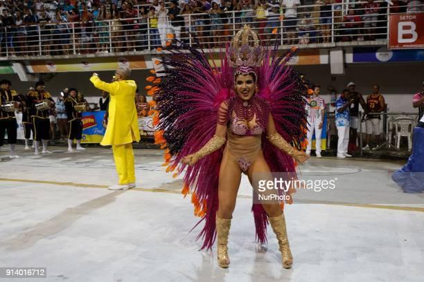 Participant takes part at Carnival parade in Vitoria City State Espirito Santo Brazil on 4 February 2018