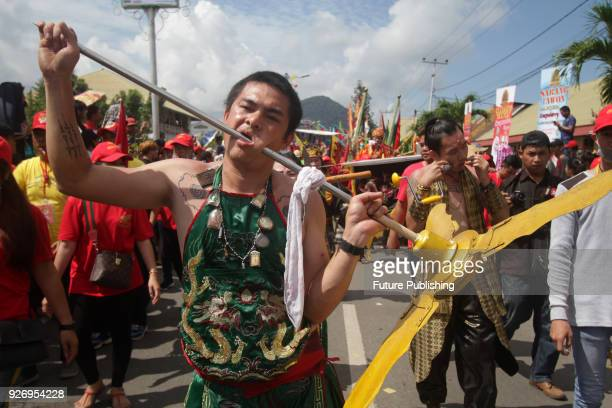 S SINGKAWANG INDONESIA MACRH 3 A participant taking part in the Cap Go Meh Festival also known as Yuanxiao festival in China which marks the 15th and...