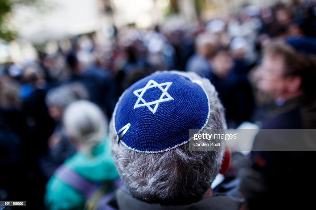 Jewish Community Calls For Kippah Gathering To Protest Against Anti-Semitism : Nieuwsfoto's
