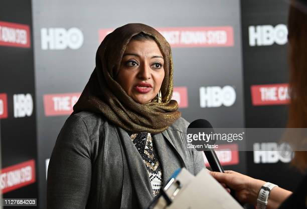 Participant/producer Rabia Chaudry attends NY premiere of HBO's The Case Against Adnan Syed at PURE NON FICTION on February 26 2019 in New York City