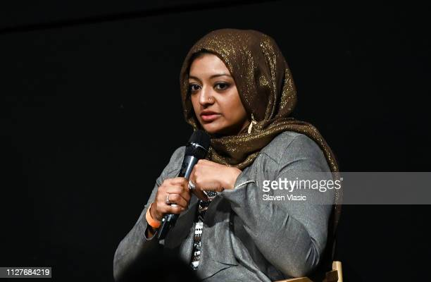 Participant/producer Rabia Chaudry attends QA for NY premiere of HBO's The Case Against Adnan Syed at PURE NON FICTION on February 26 2019 in New...