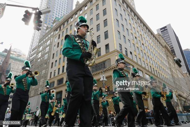 Participants are seen during the 2018 New York City St Patrick's Day Parade on March 17 2018 in New York City