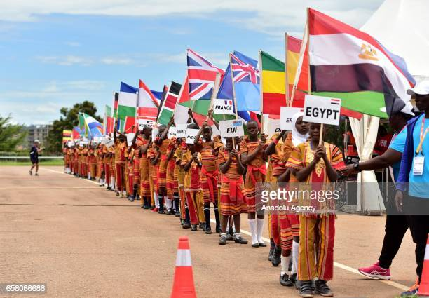 Participants are seen during the 27th World Cross Country Championships organized by International Association of Athletics Federations at Kololo SSS...
