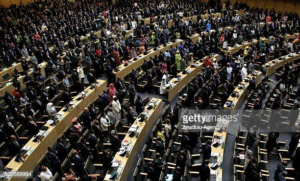 Participants are seen during the 28th African Union Peace and Security Council Summit in Addis Ababa Ethiopia on January 30 2016
