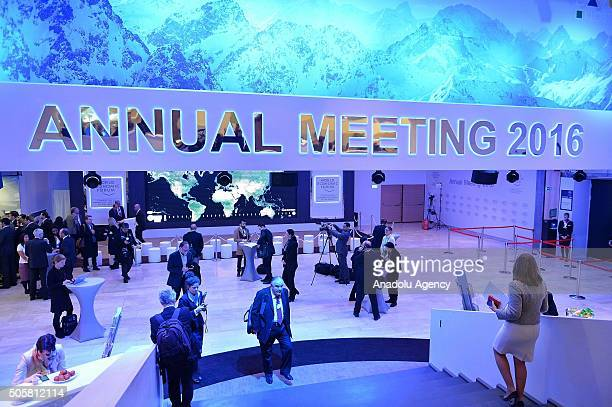 Participants are seen during the World Economic Forum annual meeting in Davos Switzerland on January 20 2016 World leaders influential executives...