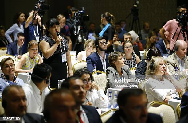 Participants are seen during TurkeyRussia Media Forum in Antalya Turkey on August 31 2016