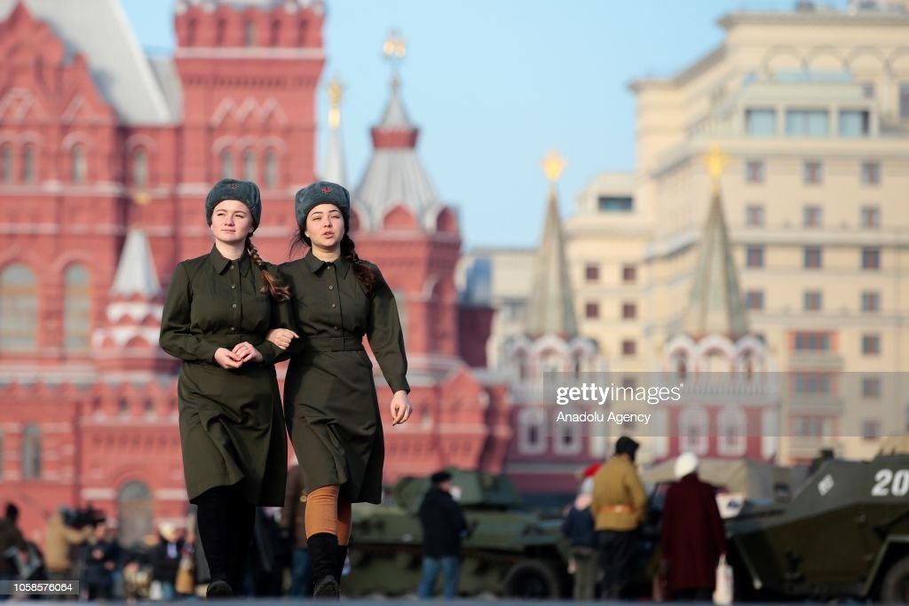 77th anniversary of the 1941 historical parade in Moscow : News Photo