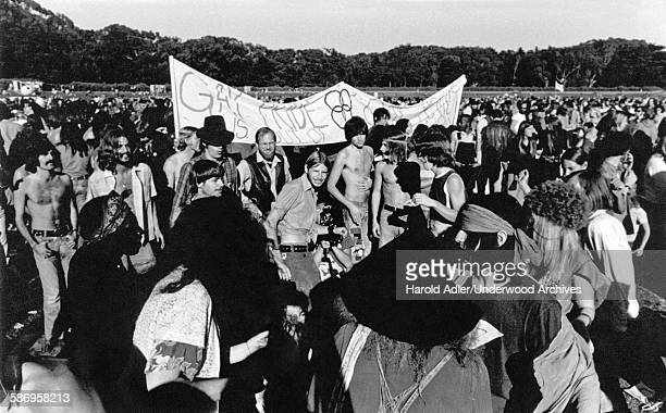 Participants at a Gay Pride gathering San Francisco California early 1970s