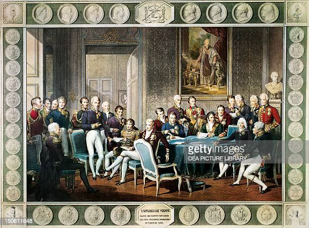 Participants at the Congress of Vienna in 1814-1815. Austria, 19th century.