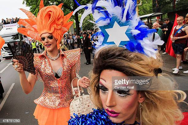Participants attend a Christopher Street Day parade on June 27 2015 in Berlin Germany Similar marches are taking place in various cities around the...