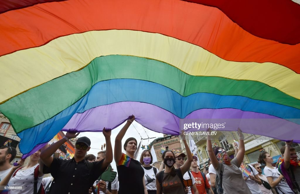 UKRAINE-LGBT-RIGHTS : News Photo