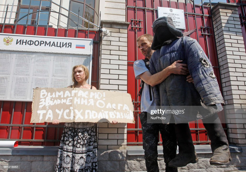Protest near the Consulate of Russia in Kiev