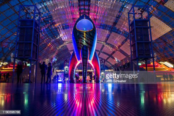 Participants attend the first day of the 36C3 Chaos Communication Congress on December 27, 2019 in Leipzig, Germany. The four-day event under the...