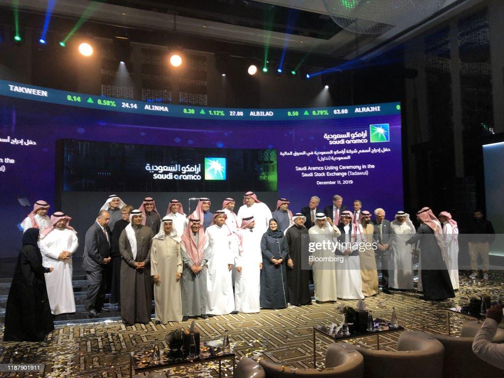 Saudi Aramco Trading Debut : News Photo