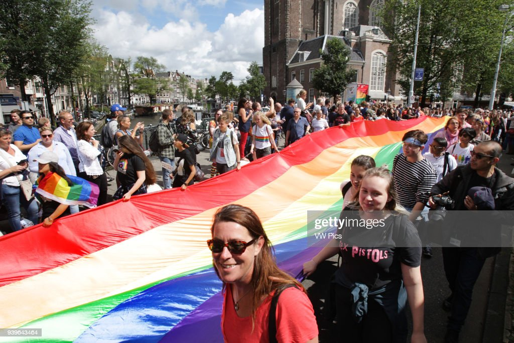 Participants attend the PrideWalk on July 29 : News Photo