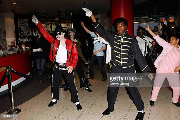 Participants attend the Thriller Dance Guinness World Record attempt at Madame Tussauds on October 30 2008 in New York City