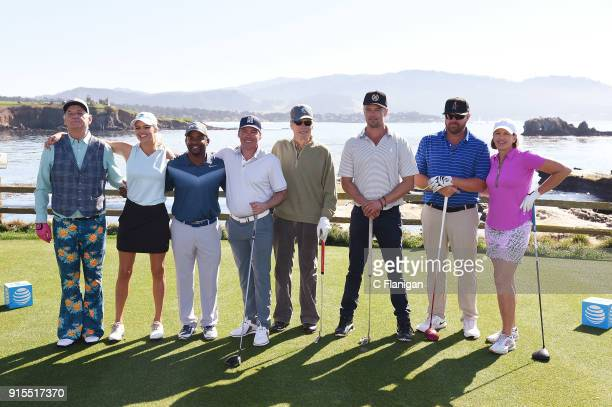Participants Bill Murray Kelly Rohrbach Alfonso Ribeiro Clay Walker Clint Eastwood Josh Duhamel Toby Keith and Julie Inkster in the 3M Celebrity...