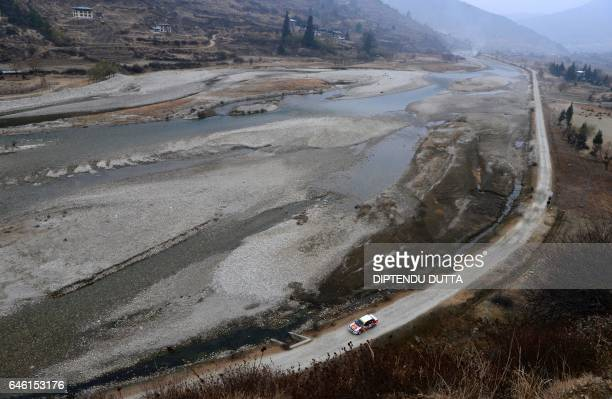 TOPSHOT Participants compete during the Tri Nation Himalayan Drive car rally on the way up to Darjeeling India from Paro in Bhutan on February 28...